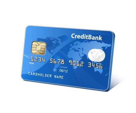 non cash: Credit plastic payment card  Payment concept  Vector illustration