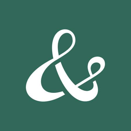 typography signature: S�mbolo ampersand personalizada para la invitaci�n de la boda