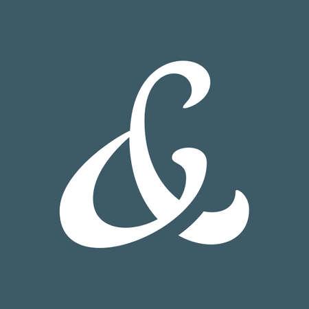 ampersand: Elegant and stylish ampersand symbol for wedding invitation