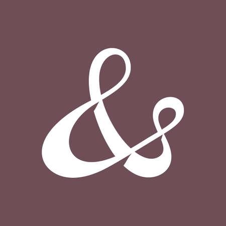 ligature: Elegant and stylish ampersand symbol for wedding invitation