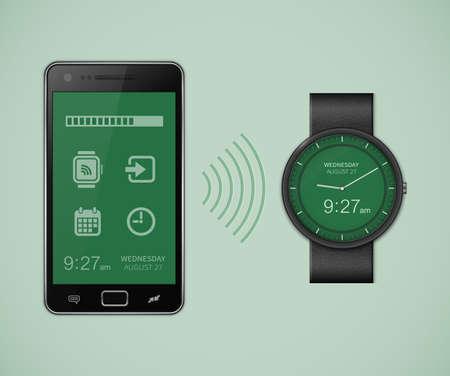 sincronizacion: La sincronizaci�n entre el reloj inteligente y tel�fono inteligente