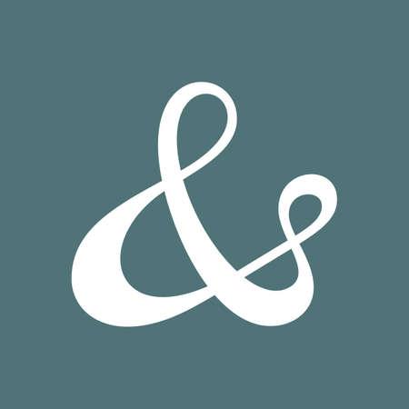 ligature: Custom ampersand  Hand drawn ampersand symbol for wedding invitation