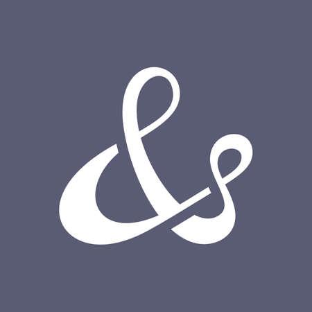 ligature: Custom vector ampersand symbol for wedding invitation