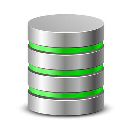 disco duro: Icono de la base de datos de red ilustraci�n vectorial