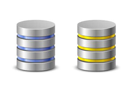 Database icons Netzwerk-Backup-Icons Standard-Bild - 30441908