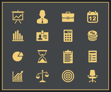 Business and financial icons  Vector icons Vector