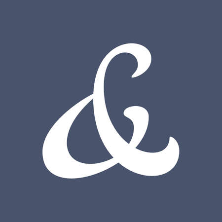 ligature: Elegant and stylish ampersand symbol for wedding invitation  Vector illustration