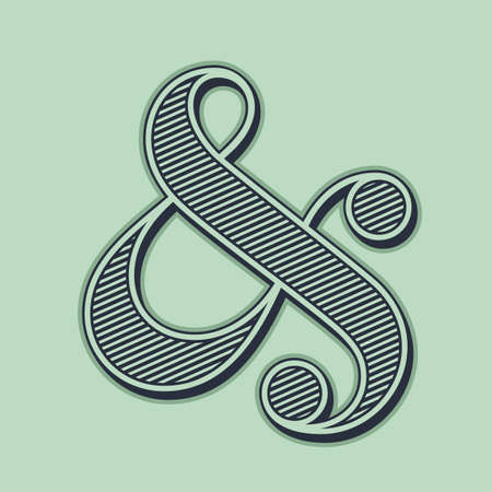 ampersand: Elegant and stylish ampersand symbol for wedding invitation  Vector illustration