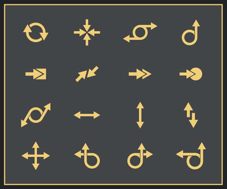 different shapes: Arrow signs collection  Vector illustration