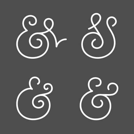 ampersand: Four elegant and stylish custom ampersands