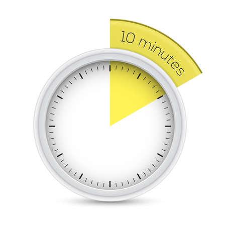 timekeeper: illustration of 10 minutes timer