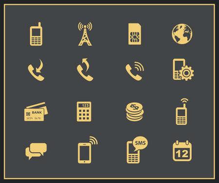wifi access: Account mobile icone di gestione