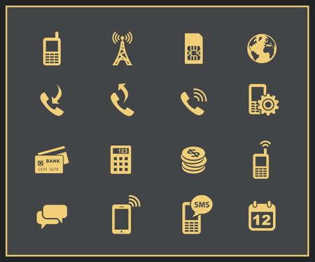cell phone transmitter tower: Mobile account management icons