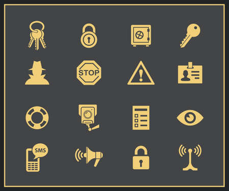 intruder: Security and warning icons