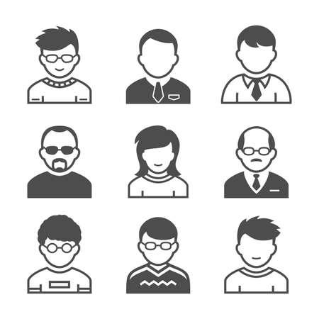 simplus: Usuarios avatares Ocupaci�n y la gente iconos ilustraci�n vectorial serie Simplus