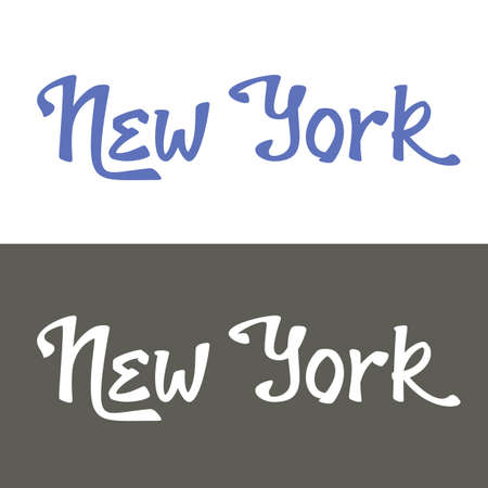 custom letters: New York hand lettering for t-shirt or greeting card print template.