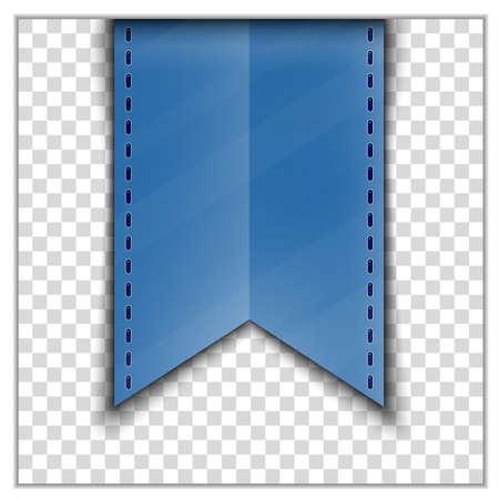 fondo transparente: Cinta azul decoraci�n marcador en el fondo transparente. Ilustraci�n vectorial Vectores