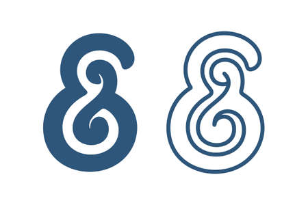 typography signature: Ampersand Custom s�mbolo. Ilustraci�n vectorial