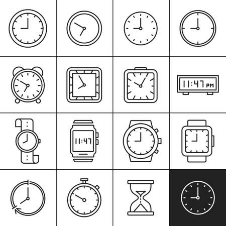 sand watch: Clock and watch icons. Measuring and displaying time