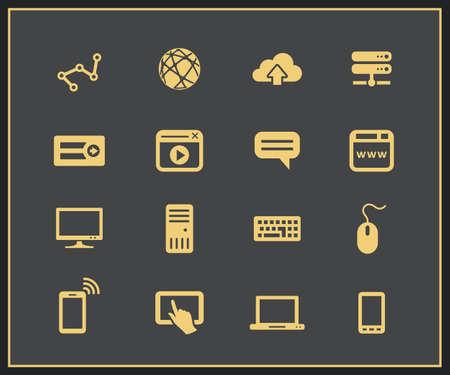 simplus: Dispositivos de Internet. Las conexiones de red. Ilustraci�n vectorial Vectores