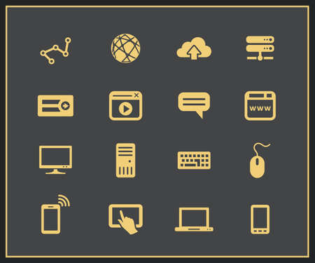chat window: Internet devices. Network connections. Vector illustration