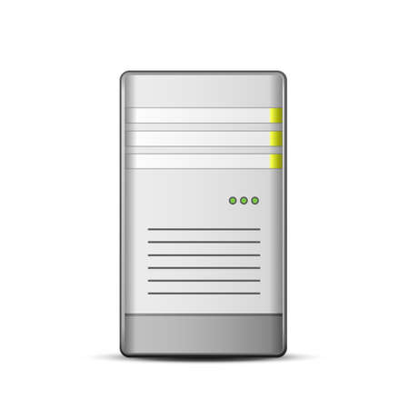 computer case: Server icon. Vector illustration of computer server