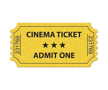 admit: Cinema ticket. Admit one. Vector illustration