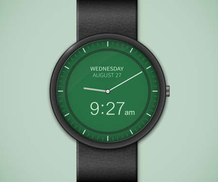 scheduler: Smart watch interface template. Smartwatch mockup. Vector illustrations