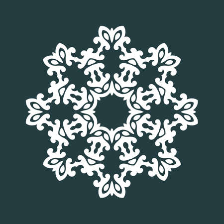 lace vector: Round pattern. Ornamental lace. Vector illustration