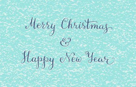 Hand written Christmas greeting card. Vector illustration Vector