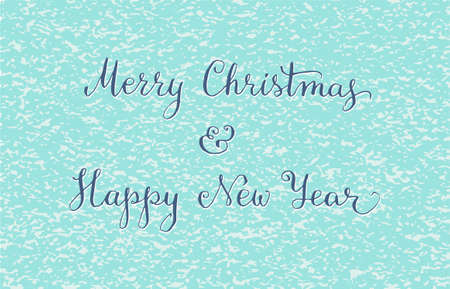 written: Hand written Christmas greeting card. Vector illustration
