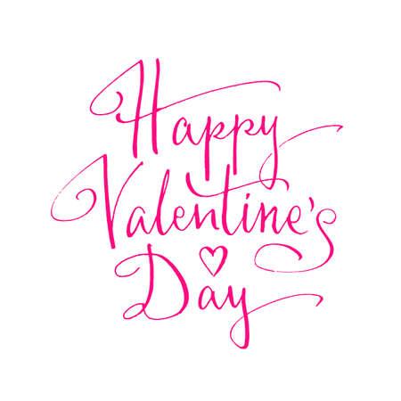 happy valentines: Happy Valentines Day handwritten lettering. Vector illustration