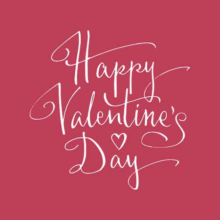 happy valentines day: Happy Valentines Day handlettering. Vector illustration