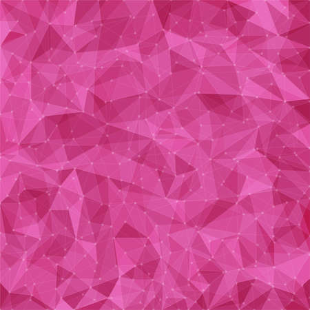 Abstract pink mosaic pattern. Vector pattern with paper texture and dots. Vector abstract background Vector