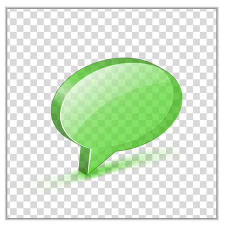 cyst: Transparent green glossy bubble. Vector illustrations