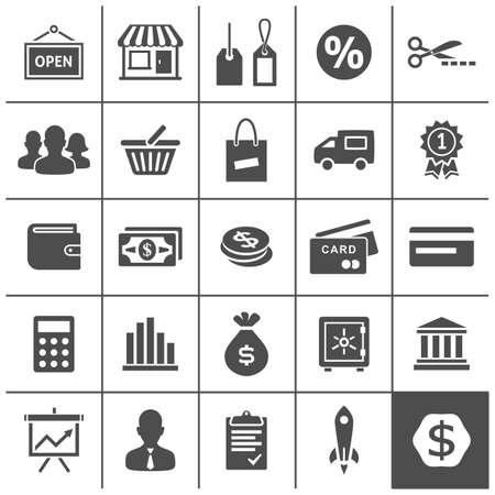 simplus: Iconos de negocios de inicio. Ilustraci�n del vector. Serie Simplus Vectores