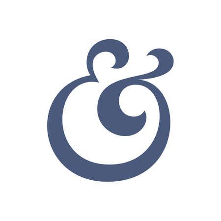 ampersand: Custom ampersand symbol for wedding invitation. Vector illustration