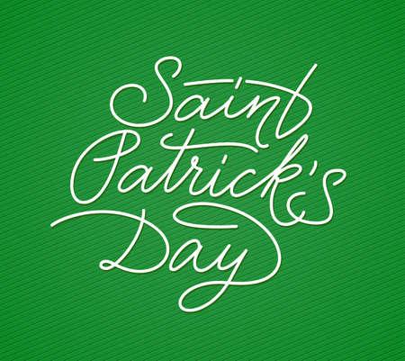 saint patricks day: Saint Patricks Day hand lettering. Vector illustration Illustration
