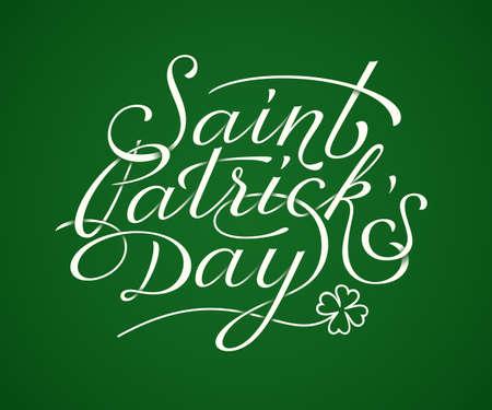 saint patricks day: Saint Patricks Day lettering. Vector illustration Illustration