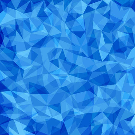 Abstract blue vector mosaic pattern. Vector pattern with paper texture. Vector abstract background Vector