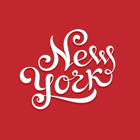 custom letters: New York hand lettering for t-shirt or greeting card print template. Vector illustration Illustration