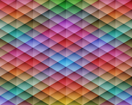 Colorful mosaic seamless vector background. Graphic pattern with rhombus elements. Vector illustration Vector