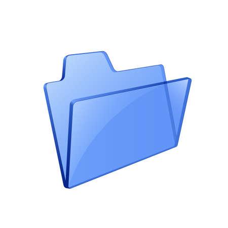 Glass glossy folder. Pseudo transparency. Vector illustration