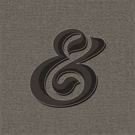 ligature: Custom decorative ampersand. Vector illustration Illustration
