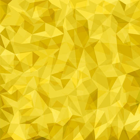 Abstract yellow mosaic pattern. Vector abstract background Vector