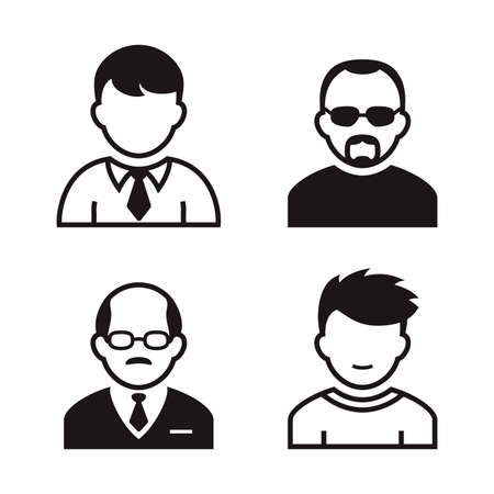 principal: People avatar and user icons. Occupation and people icons. Vector illustration