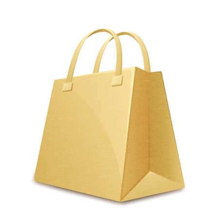 shopping bag vector: Paper shopping bag. Vector illustration