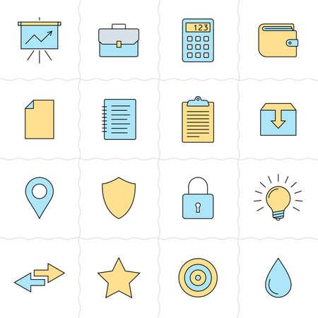 picker: Universal flat icons. Flat style Illustration
