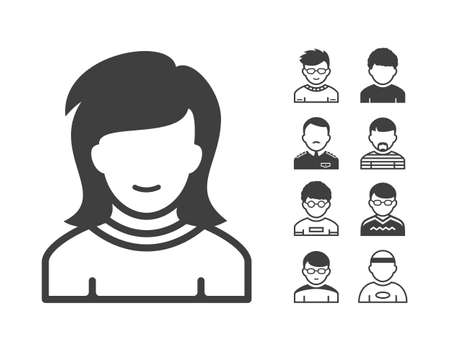 adviser: Avatar and user icon set. Occupation and people icons. Vector illustration Illustration