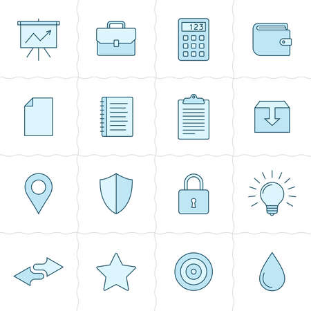 universal: Universal outlined stylish vector icons. Linear style Illustration